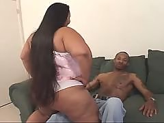 Yummy ebony chubby lady making sweaty sex
