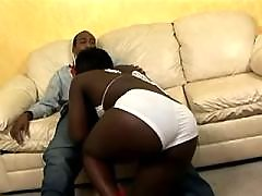 Fast and sweaty sex with ebony chubby woman
