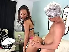 Yummy ebony fat lady making sweaty sex